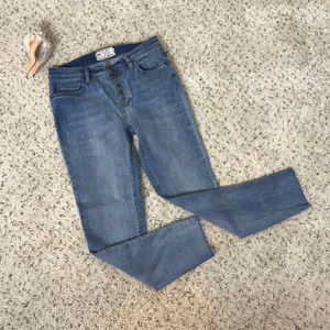 Free People, women's size W 28, button fly jeans